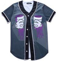 mode v cou t shirts hommes achat en gros de-Mode Nouvelle Arrivée T-shirt Hommes Hip Hop Impression Designer Polyester Col V À Manches Courtes T-shirts