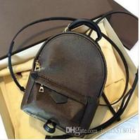 Wholesale bag packs for sale - Group buy 2018 PU fashionback women pack shoulder bag handbag presbyopic mini backpack messenger bag mobile phonen purse CM