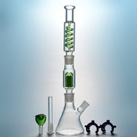 Wholesale Unique Beaker Glass Bongs Arms Tree Perc Freezable Oil Dab Rig Condenser Coil Buil A Bong Dab Rigs Glass Water Pipe With Diffused Downstem