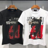 figura simple pintura al por mayor-Las camisetas de los hombres son elegantes y cómodas, con telas de algodón simples, figuras pintadas y de alta calidad.