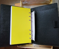 kitap cebi toptan satış-Küçük Not Defteri cep toz çantası kutusu ile gel dizüstü kart pasaport tutucu toplantı rekor kitap 19 * 14 cm Siyah EPI inek deri su dalgalanma