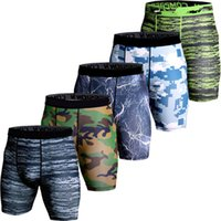Wholesale camo compression shorts for sale - 3D Camo Compression Shorts Men Short Pants Mma High Elastic Skinny Leggings Bodybuilding Tights Men Fitness Sweat Shorts S XL
