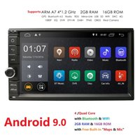 Wholesale Hizpo Quad Core quot Din Android Car NO DVD Radio Multimedia Player Universal GPS Navigation autoradio Stereo Audio car dvd