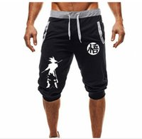 ingrosso palla per il fitness-2019Hot-Selling Summer New Man's Shorts Casual Shorts Moda Dragon Ball Goku stampa Pantaloni sportivi Fitness Short Jogger M-3XL