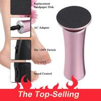 ayak kalsiyum giderici araç toptan satış-Ayaklar Dead Skin Nasır Peel Remover İçin Elektrikli Pedikür Ayak Bakım Aracı Dosyalar Pedikür Nasır Sökücü Şarj edilebilir Kesme Dosyası