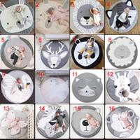 spieltiere spielen großhandel-Hot INS Baby Krabbeln Matte Weiche 15 Stil Tiere Druckmatten Krabbeln Decke Spielen Spiel Indoor Outdoor Baby Raumdekoration Runden Spiel Teppich