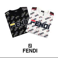 design de broderie gratuit achat en gros de-T-shirt 2019 homme T-shirt en coton de qualité supérieure FENDI, respirant, doux et confortable, respirant, motif de broderie et livraison gratuite