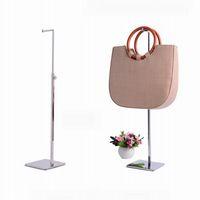 Wholesale metal clothes display resale online - Silver Adjustable Handbag Stand Display Metal polished Handbag Display Rack Women Bag Display Holder