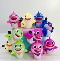 Wholesale shark figures for sale - Group buy Baby Shark Figures Squeeze Toys Set cm Animal Action Figure Dolls Cartoon kids Baby Shark Toy Christmas Gift Novelty Items GGA1947