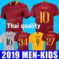 Wholesale roma football jersey online - 2019 TOTTI Roma Soccer Jersey DE ROSSI Roma maglia da calcio ragazzi customize DZEKO rd Football shirt kids