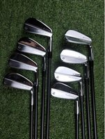 forja de hierro al por mayor-Estrenar P7 TW del hierro de P7 TW golf forjó los hierros P7TW palos de golf 3-9Pw R / S Flex Acero / Eje del grafito con la cubierta principal
