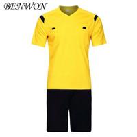 Wholesale professional jerseys resale online - Benwon Soccer Referee Jerseys Kit Fair Play Professional Competition Referee Clothing V neck Football Judge Sets Uniforms Short Sportswear