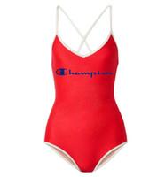 neue damen badebekleidung großhandel-Neuer Sommer-Entwerfer-Badeanzug für Bikini-Badebekleidungs-Luxuxbadeanzug-Marken-Bikini der einteiligen Frauen mit Buchstaben, die 3 Farben kleiden