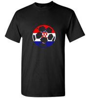 футбольные майки оптовых-Футболка с изображением футбольного мяча с изображением футбольного мяча в Хорватии - Хорватский футбол с коротким рукавом и скидкой на размер Горячий новый топ Бесплатная доставка футболка