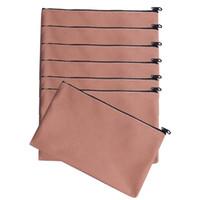 saco de lona venda por atacado-40pcs / lot durável saco de cosmética de lona verde, rosa claro terno sete peças, saco de cosmética em branco preto de nylon com zíper para transferência térmica