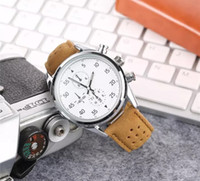 Wholesale famous brand wristwatches for men resale online - 2019 Famous Luxury Fashion Brand Watches For All Men Quartz Watch Leather Strap Business Wrist Watch Wristwatches Christmas Gift Relógio