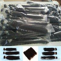 tejidos de pelo mezclado al por mayor-Nueva Onda Profunda Rizo Tejido de la Trama Del Pelo Mezcla Del Pelo Humano Futura Fibra Sintética Mezcla Extensión Del Tejido Del Pelo Rizado