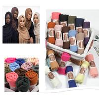 couvertures musulmanes achat en gros de-mélange 36 couleurs écharpe hijab 100% coton musulman enfants écharpe en soie de créateur foulards enfants musulmans couverture enveloppante châle écharpe châle