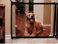 cercas venda por atacado-Magic-Gate Dog Cercas Pet Portátil Dobrável Guarda Segura Isolamento Cerca Proteção Mesh Segurança Portão Mágico Para Cães Gato Pet Safty B3113