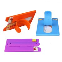 Wholesale wallet phone case mix online – custom 2 in Credit Card Holder with Phone Stand Universal M Sticky Silicone Wallet Stick Card Holder Stick On Phone Case