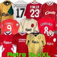 04 05 Retro Soccer Jersey Gerrard 1982 FOWLER DALGLISH 10 11 Football Shirts TORRES 1989 Maillot 06 Kuyt 08 09 SUAREZ 97 95 96 93 McMANAMAN