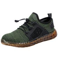 sexy botas de strass blanco al por mayor-SHUJIN Nuevos zapatos indestructibles Ryder para hombres y mujeres Botas de seguridad de aire con punta de acero Zapatillas de trabajo a prueba de pinchazos Zapatos transpirables
