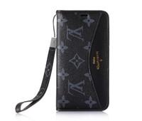 тросовые шкафы оптовых-Классический шаблонный чехол с ручным тросом для Iphone X XS MAX 8 Plus 7 Plus Кожаный чехол для бумажника с карточкой-крышкой с подставкой и откидной крышкой