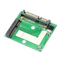 2.5 sata ssd toptan satış-PROMOSYON! Mini YENI PCI E Yarım Yükseklik mSATA SSD 7mm 2.5