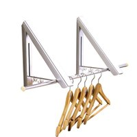 Wholesale folding hanger space for sale - Group buy Invisible drying racks Space aluminum folding small drying racks Hotel hangers balcony drying racks hotel dedicated Fold Small Clothes yfC