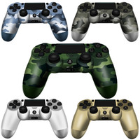 Wholesale joystick games resale online - SHOCK Wireless Controller TOP quality Gamepad for PS4 Joystick with LOGO Retail package Game Controller fast shipping