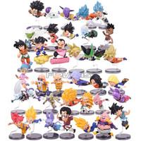 ingrosso la palla di drago di krillin z-Dragon Ball Z i personaggi storici della serie 1 ~ 6 Son Goku Bulma Muten Crilin PVC Figure da collezione Giocattoli 6pcs / set