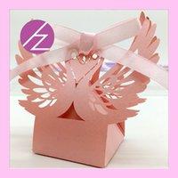 шоколадный лебедь оптовых-Держатели фаворитов Шоколадные свадебные помолвки Royal Swan Design Уникальные коробки Grand Event День Рождения с лентой