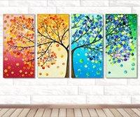 árvore de pintura diamante diy venda por atacado-40 * 80 cm 5d Novo Cubo DIY Quatro Pintura Diamante Quatro-cor Árvore Diamante Cheio de Diamante Pintura Home Decorativo Paintingi