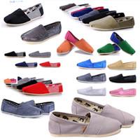 самые низкие цены кроссовки оптовых-Горячие продать модный бренд женщин и мужчин кроссовки холст обувь tom обувь мокасины квартиры эспадрильи tom обувь для женщин низкая цена размер 35-45