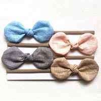 Baby Headbands Bunny Ear Cotton Headbands Children Hair Accessories Kids Turbon Knot Hairbands Baby Girls Bow Headwear Headdress