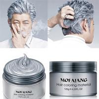 Wholesale mud clay for sale - Group buy MOFAJANG Hair Wax G Silver Grandma Grey Temporary Hair Pomade Colors Disposable Fashion hair clay Coloring mud cream