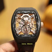 Wholesale best luxury skeleton watches for sale - Group buy Best Edition NEW SARATOGE V T SQT CARBONE mm Skeleton Dial Carbon Fiber Case Miyota Automatic Mens Watch Leather Strap Designer Watches