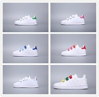 ingrosso calzature per ragazze per bambini-Adidas Stan Smith stansmith  kids shoes boys girls sneakers 2018 spring autumn winter new arrival fashion super star teenage toddler shoes child casual footwear