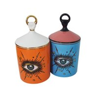 Wholesale handmade stick decorations resale online - Big Eye Starry Sky Incense Candle Holder with Hand Lid Aromatherapy Candle Jar Diy Handmade Candleabras Home Desk Decoration