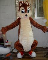 trajes de colas marrones al por mayor-Mago de la mascota cola grande, ardilla marrón, disfraz de adulto, disfraz de mascota, personaje adulto, disfraz de mascota para la fiesta de Halloween