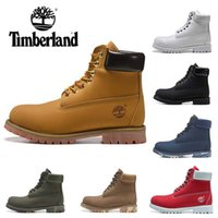 Wholesale new winter boots for boy resale online - 2019 New TBL Boots For Men Women Designer Winter Boot Military Blue Triple Black White Fashion Mens Trainer Outdoor Sneakers Shoe