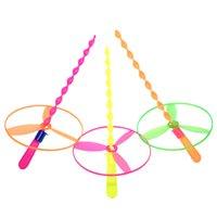 ingrosso giocattoli scolastici-Disco volante di spinta a mano Frisbee Feitian puzzle fata bambini Educazione giocattoli di plastica creativo asilo scuola primaria regali
