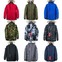 mens ceketler toptan satış-Kanada Sonbahar ve Kış Sıcak Erkek Tasarımcı Yeni 90% Kaz Aşağı İnce Kapşonlu Aşağı Yelek Kalın Rahat Erkek Aşağı Ceket