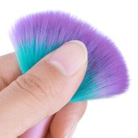 кисть с блестками оптовых-Nail Dust  Removal Brush 2019 Nail Art Dust Brush Sequin Handle