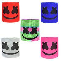 самые горячие игрушки оптовых-Горячие продажи Marshmello DJ Mask Unisex Смешные игрушки Деревообрабатывающий MarshMello DJ Шляпы Полный Голова Шлем Halloween Cosplay маски партии Cosplay маски