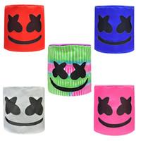 satış kaskları toptan satış-Sıcak satış Marshmello DJ Unisex Komik Oyuncak Şapkalar MarshMello DJ Şapka Tam Başkanı Kask Cadılar Bayramı Cosplay Parti Cosplay Maskeler Maske