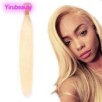 ingrosso pezzi diritti dei capelli brasiliani-Capelli brasiliani umani di Remy 613 # Biondo un fascio 1 parte / lotto dritti umani di estensioni dei capelli doppie trame tesse diritta 8-30inch Bundle