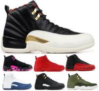 new products 494bb e4ade 2019 12 12s XII Chaussures De Basketball Sneakers Hommes Femmes Gym Rouge  Wntr Triple Playoff Jeu De La Grippe Nrg Aile PRM Doernbecher Baskets  Chaussures ...