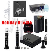 Wholesale cloud kit resale online - kanborotech hot selling charistmas buddle vaporizer kit ecube for wax atomizer with big vaping cloud made in china