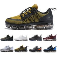 Wholesale mens shoes discount resale online - 2019 AIR cushion Utility Men Running Shoes Triple Black white Anthracite Reflect Silver Discount Runner mens trainers Sports Sneakers